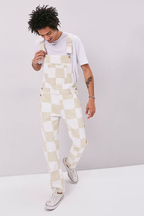 Checkered Canvas Overalls, image 4
