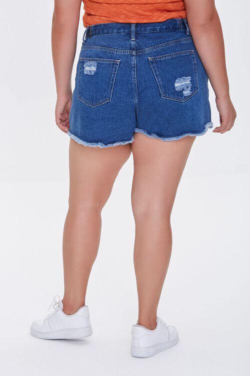 Plus Size Distressed Denim Shorts, image 4