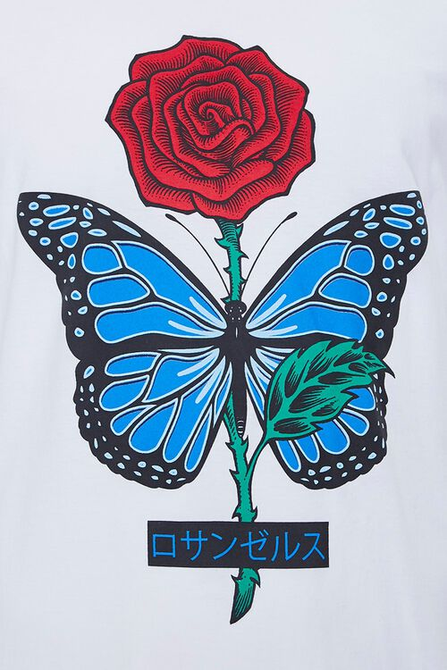 Rose Butterfly Graphic Tee, image 3