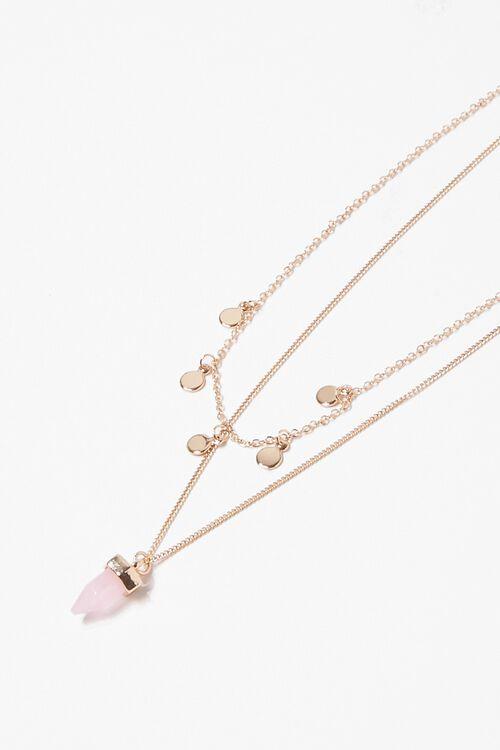 Faux Crystal & Disc Necklace Set, image 1