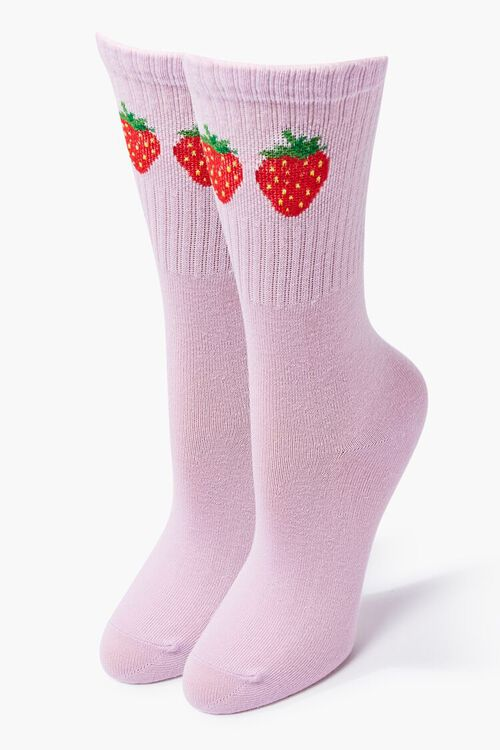 Strawberry Crew Socks, image 1