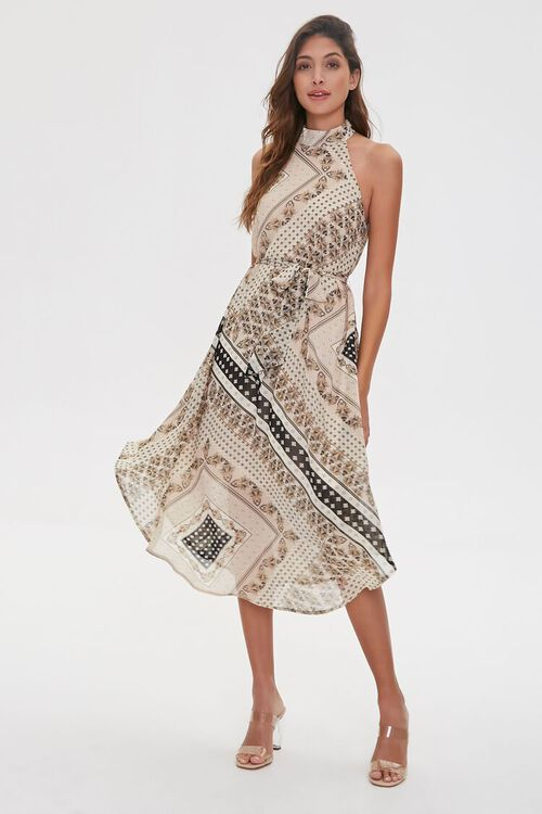Ornate Patchwork Print Dress, image 5