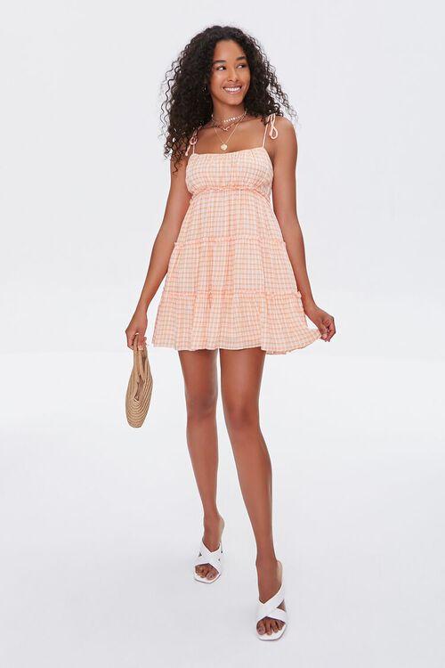 Gingham Tiered Cami Mini Dress, image 4