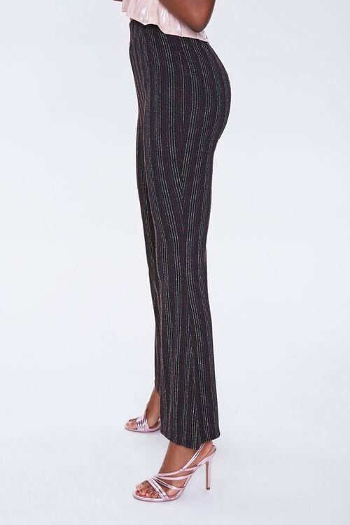Metallic Pinstriped Flare Pants, image 2