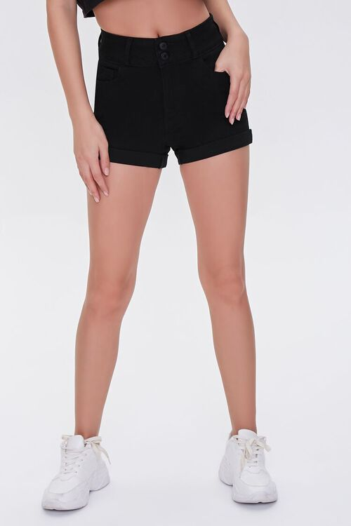 Cuffed Denim Shorts, image 2