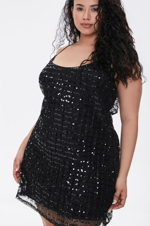 Plus Size Sequin Cami Mini Dress, image 4