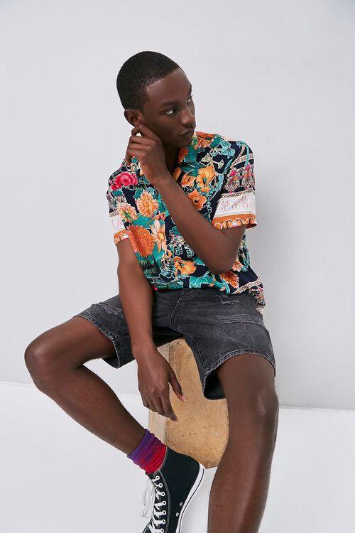Tropical Print Cuban Shirt, image 1