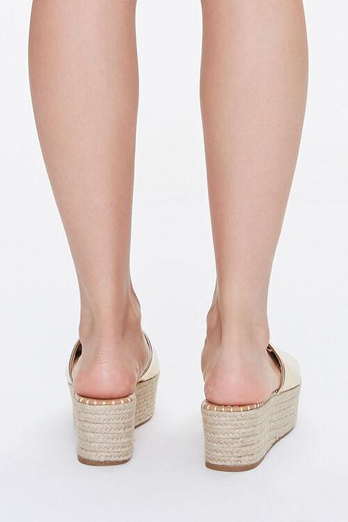 Metallic Espadrille Platform Sandals, image 3