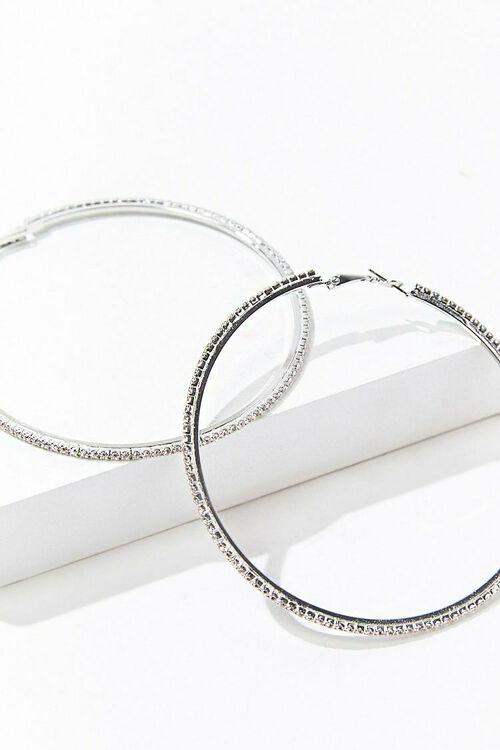 Rhinestone Hoop Earrings, image 2