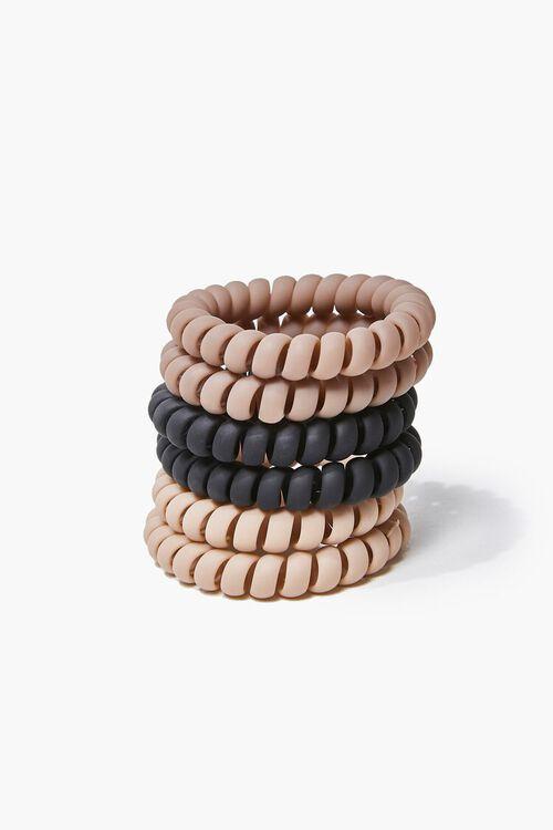 BLACK/BROWN Spiral Hair Tie Set, image 1