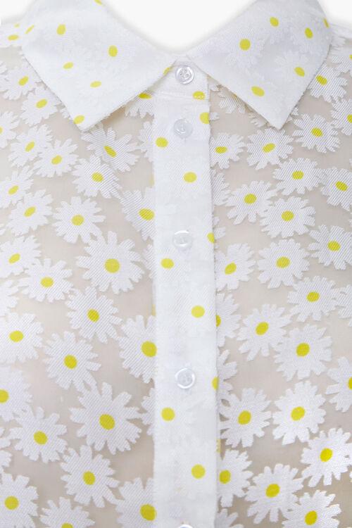 Sheer Daisy Print Shirt, image 4