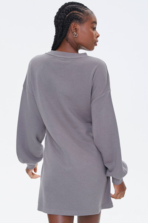 French Terry Tie-Waist Dress, image 3