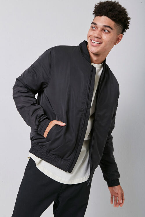 Zip-Up Bomber Jacket, image 1