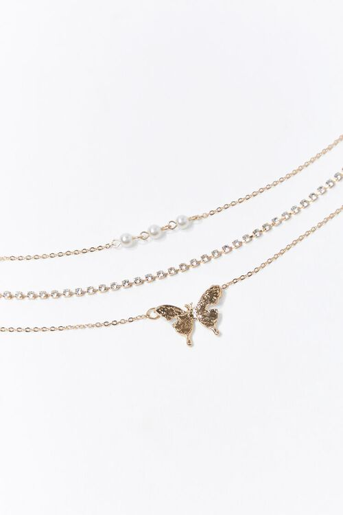 Butterfly Pendant Anklet Set, image 2