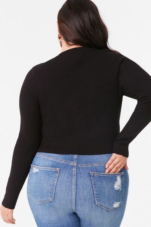 Plus Size Lace-Up Sweater, image 4