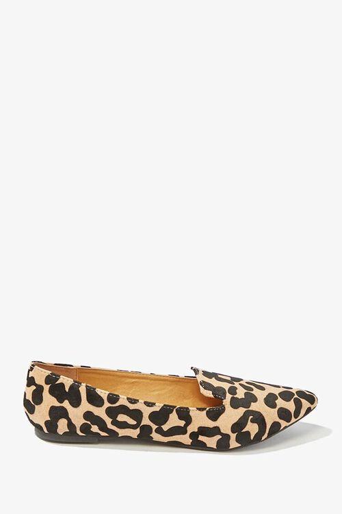 TAN/BLACK Qupid Leopard Print Loafers, image 2