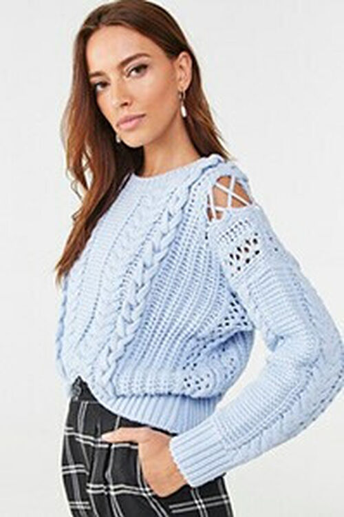 Cable Knit Sweater, image 1