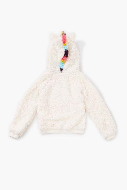 Girls Faux Shearling Unicorn Jacket (Kids), image 3