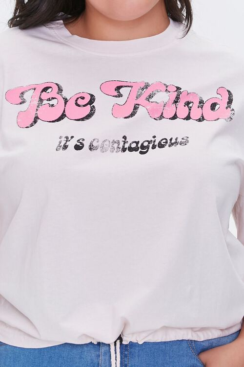 Plus Size Be Kind Cropped Graphic Tee, image 5