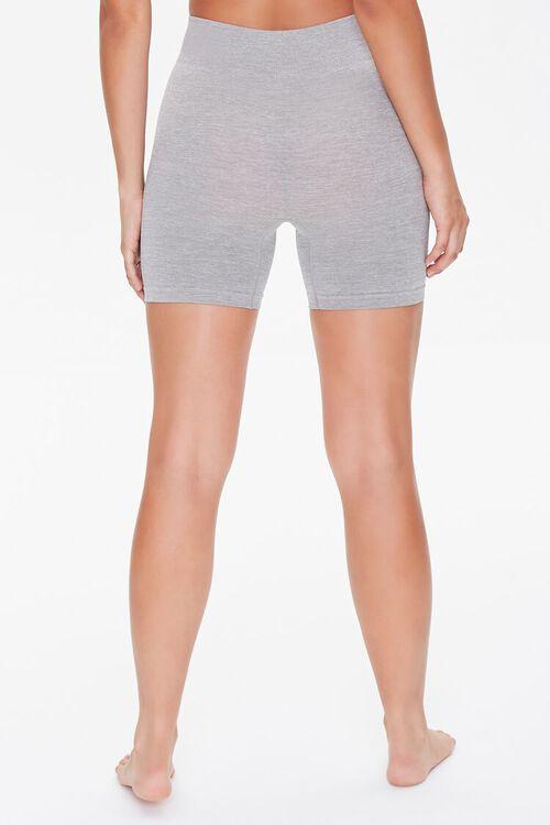Seamless Heathered Biker Shorts, image 4