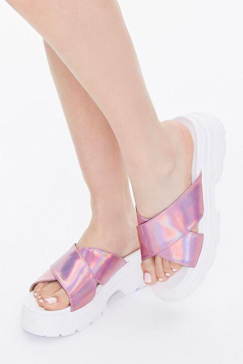 Iridescent Flatform Sandals, image 1
