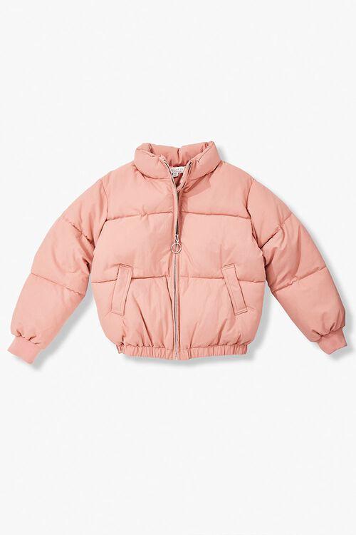 Girls Pull-Ring Puffer Jacket (Kids), image 1