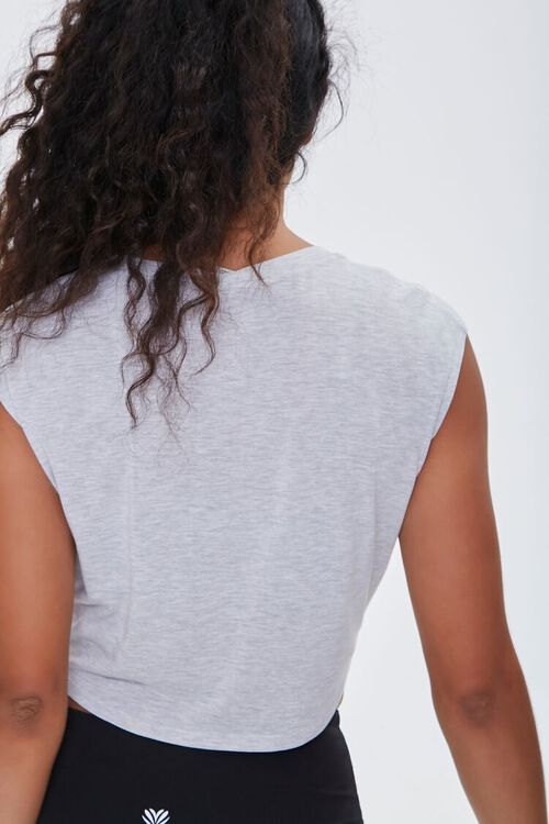HEATHER GREY Active Knotted Crop Top, image 3