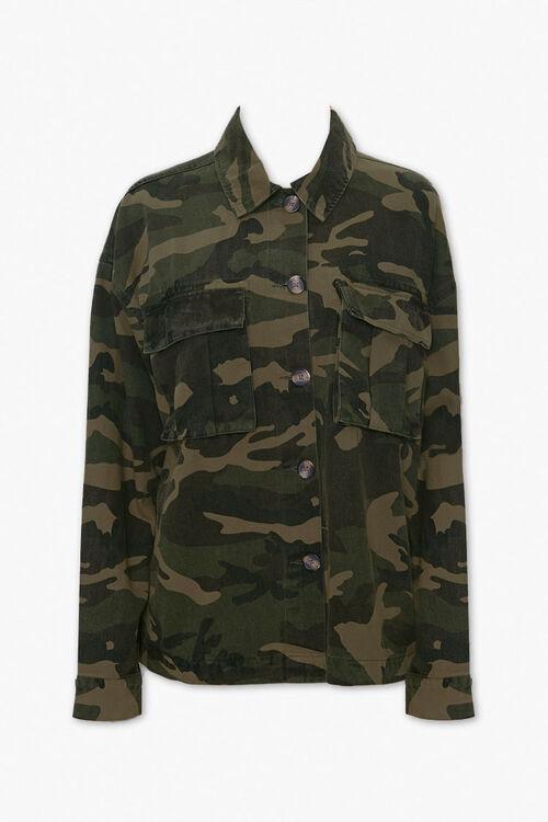 Camo Button-Down Jacket, image 1