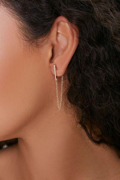 GOLD Threaded Drop Earrings, image 1