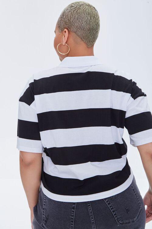 Plus Size Striped Polo Shirt, image 3