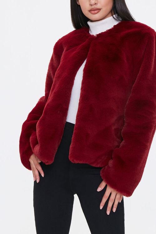 Plush Round-Neck Jacket, image 1