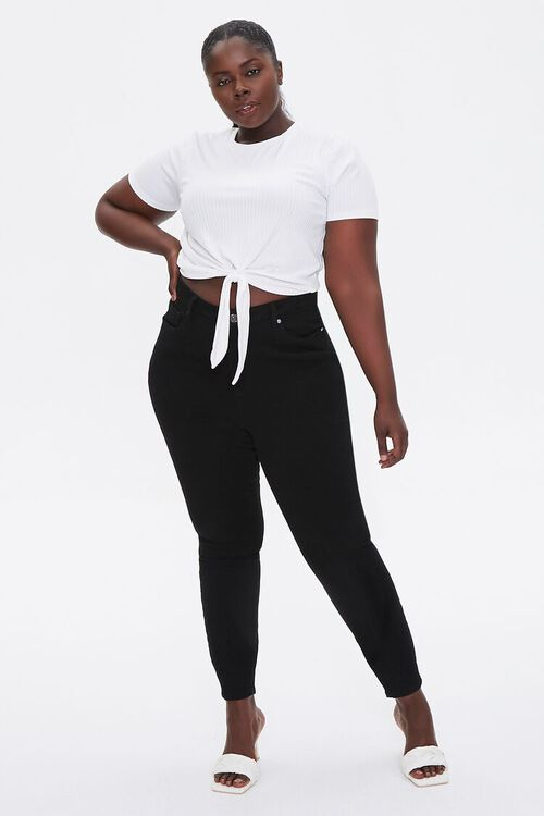 Plus Size Knotted Self-Tie Tee, image 4