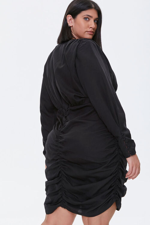 Plus Size Ruched Mini Dress, image 3