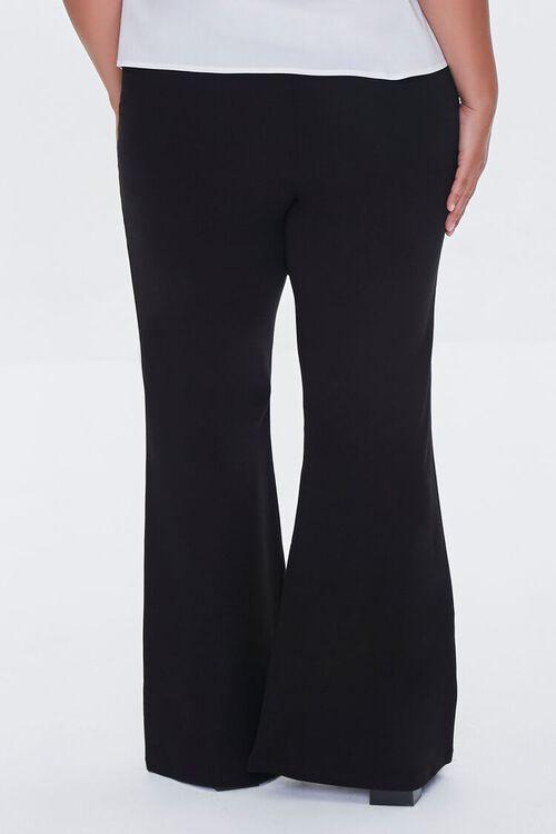 BLACK Plus Size Ponte Knit Flare Pants, image 4