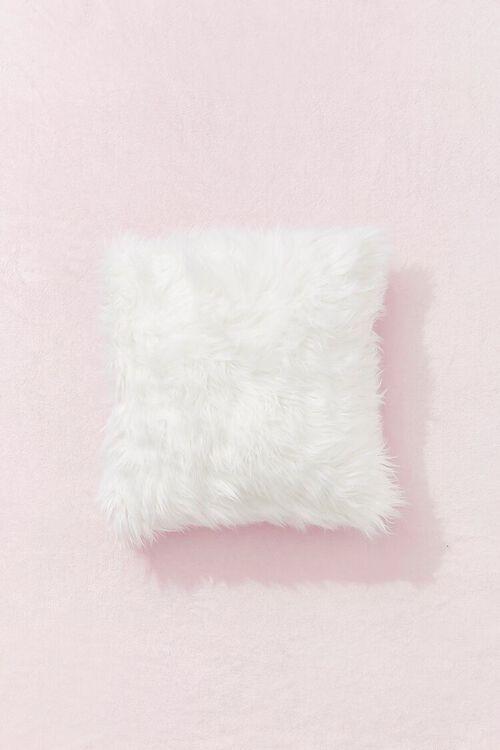 Shag Faux Fur Throw Pillow, image 1