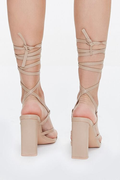 Strappy Lace-Up Block Heels, image 3