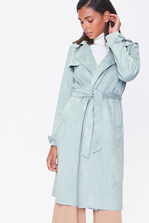 Faux Suede Duster Jacket, image 5