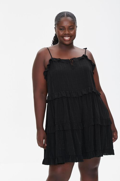 Plus Size Tiered Cami Dress, image 1