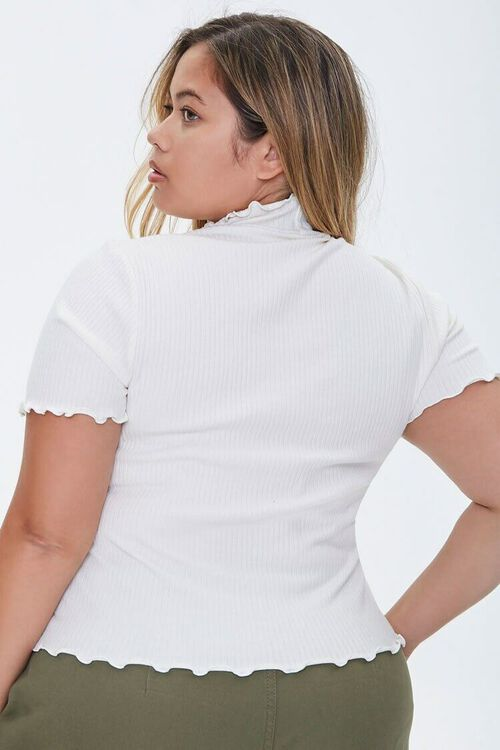 Plus Size Angels Only Lettuce-Edge Tee, image 3