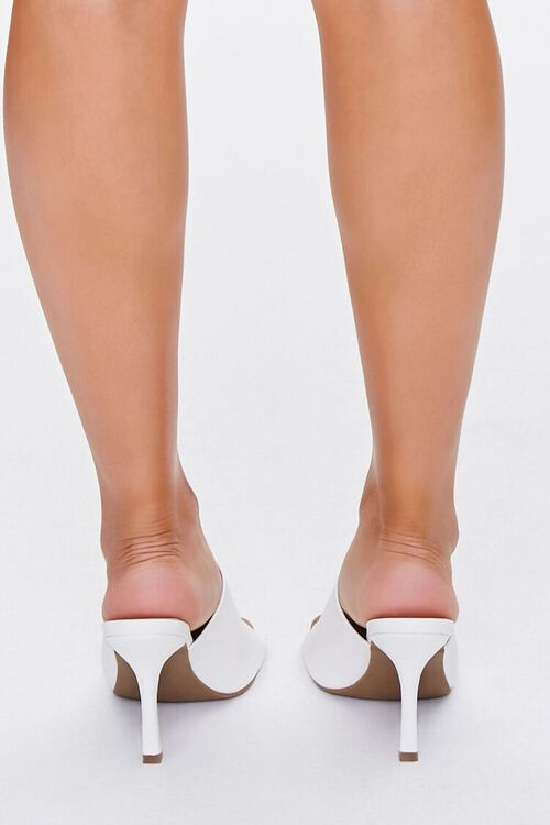 Faux Leather Square-Toe Heels, image 3