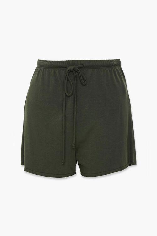 Drawstring Raw-Cut Shorts, image 1
