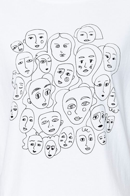 Ruffle-Trim Face Graphic Tee, image 3