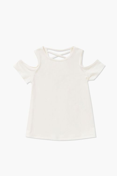 Girls Open-Shoulder Crisscross Top (Kids), image 1