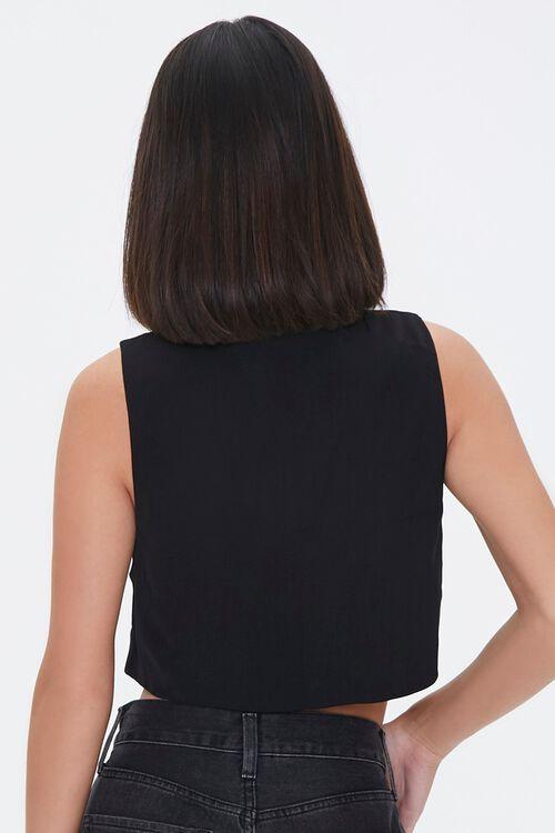 Cropped Button-Front Vest, image 3