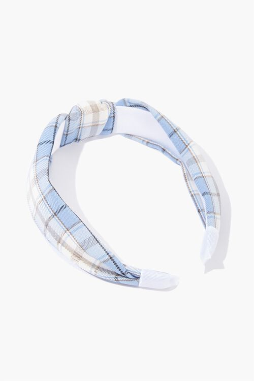 Knotted Plaid Headband, image 1