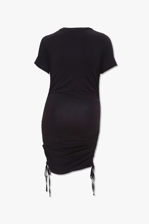 Plus Size Ruched T-Shirt Dress, image 2