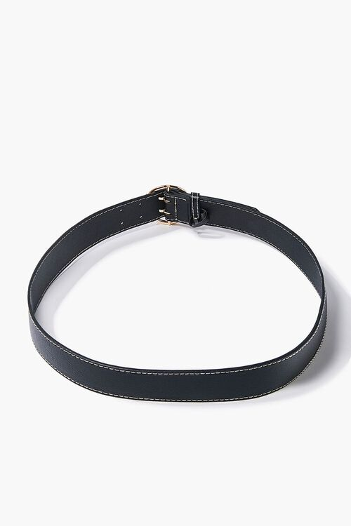 Textured Faux Leather Belt, image 2