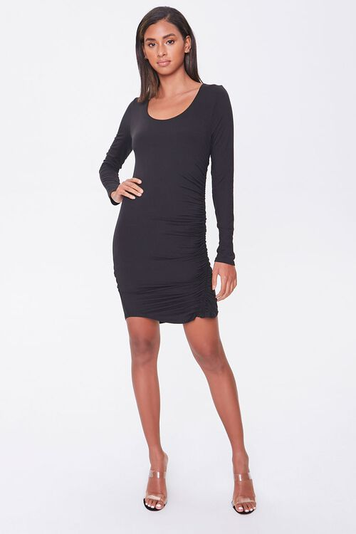 Ruched Drawstring Mini Dress, image 4