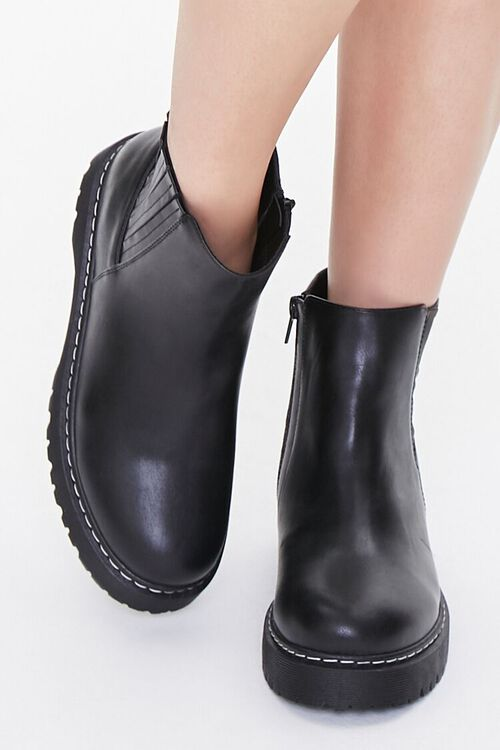 Faux Leather Chelsea Boots, image 4
