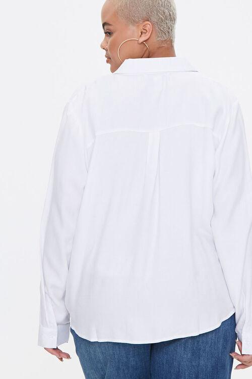 Plus Size Line Art Face Graphic Shirt, image 3